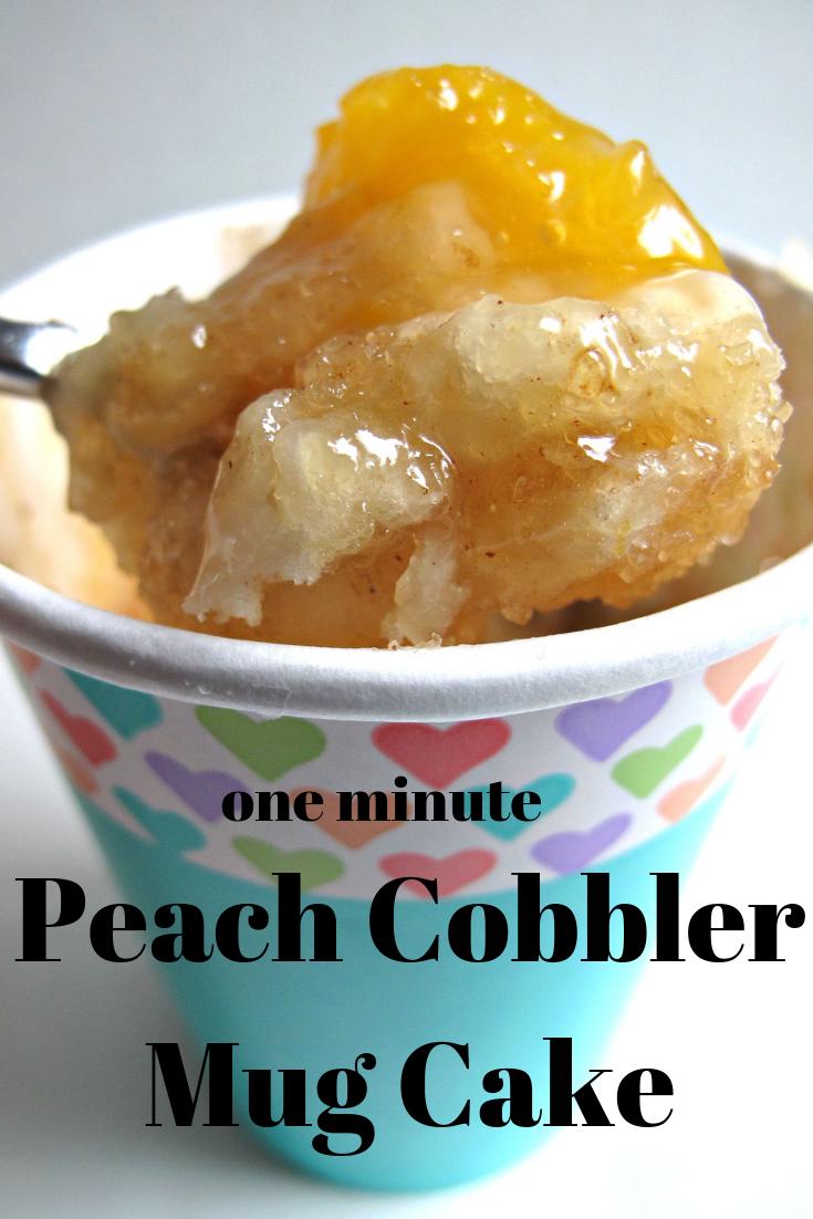 3 2 1 Peach Cobbler Recipe Mug Recipes Peach Cobbler Mug