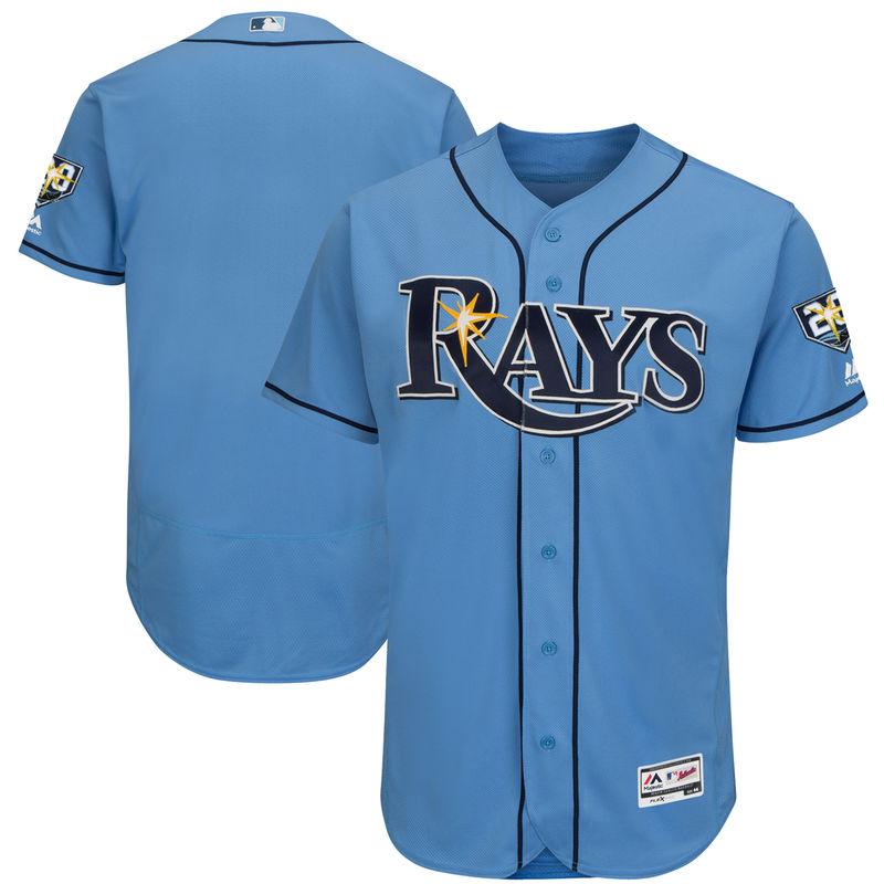 Tampa Bay Rays Majestic 20th Anniversary Alternate On-Field