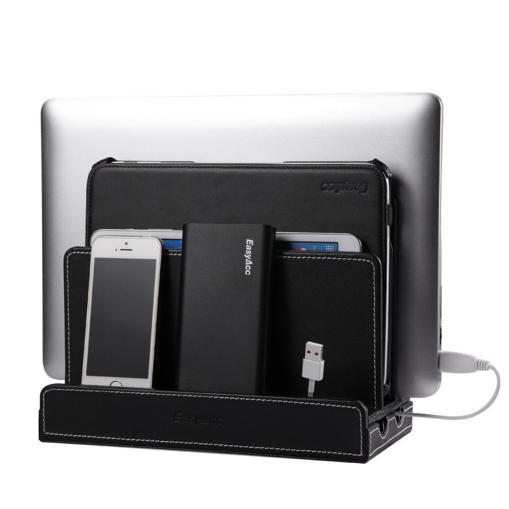 Marvelous EasyAcc Black Multiple Device Charging Station Docking For Iphone/Ipad/Phone/Tab  In