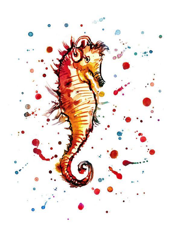 Hippocampe (sous L'eau, Musique, Colorée, Mer Du Nord