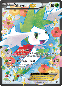 Black White Legendary Treasures Shaymin Ex Full Art Rc21 Rare