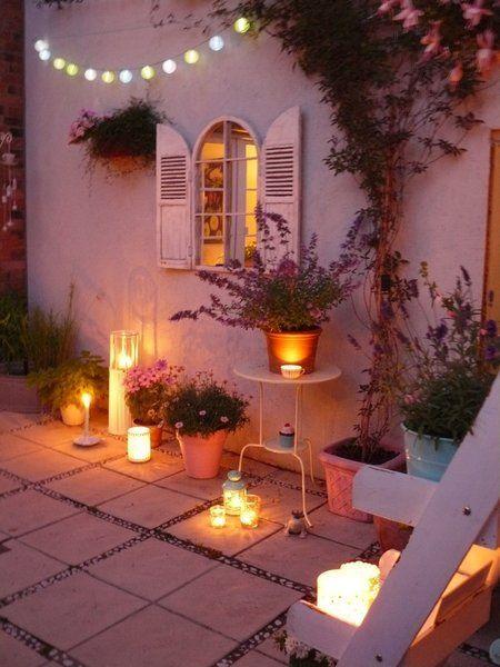 Gemütliches für Balkon und Terrasse am Tag und bei Nacht #balkonideen