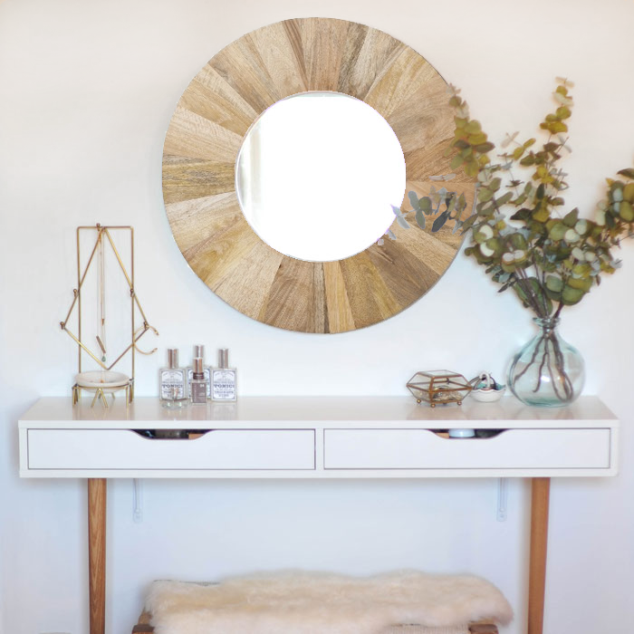 DIY Modern Vanity // The Perfect Makeup Table Transformation Using An EKBY  Alex Shelf And Tapered Legs!