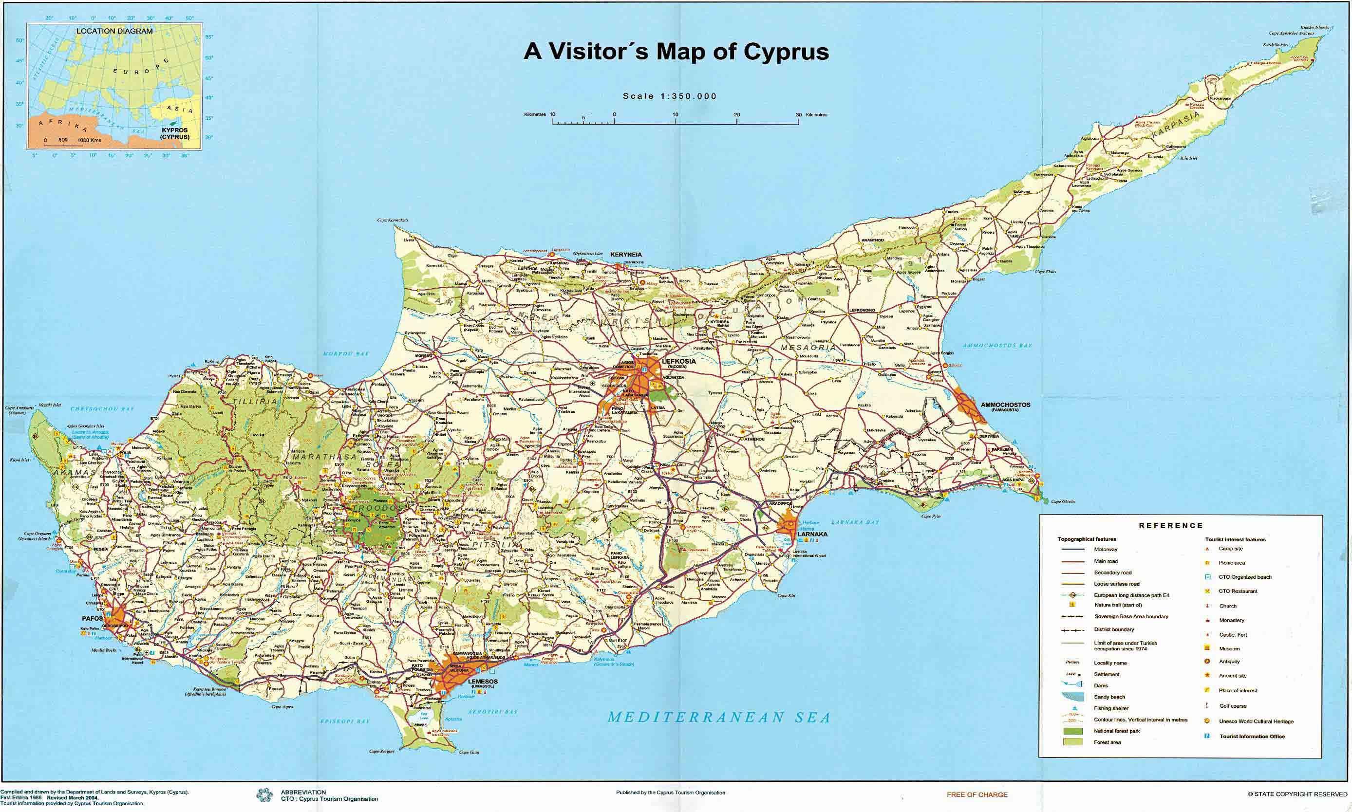 httpwwwintercypruscommapscyprustouristmapjpg Cyprus