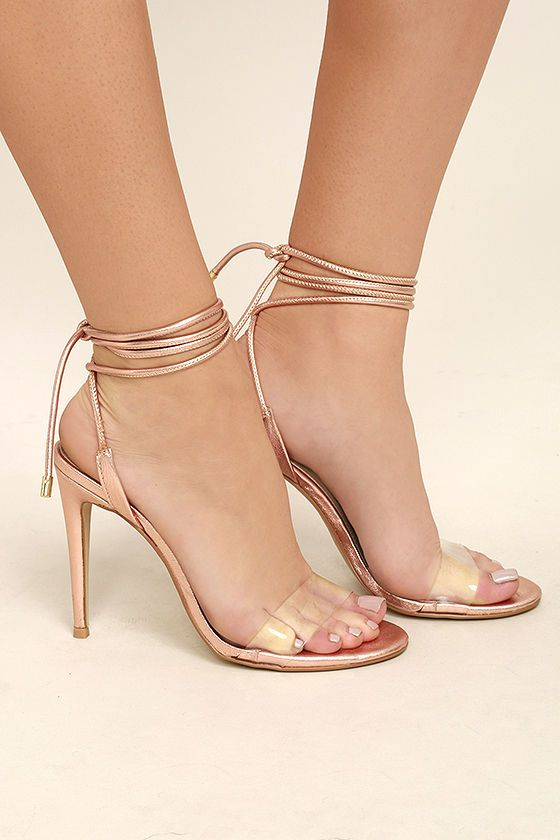 4d9a6ac235a Steve Madden Lyla Rose Gold Leather Lucite Lace-Up Heels 3
