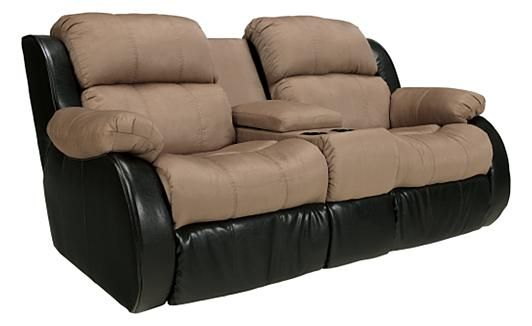 Presley Cocoa Reclining Loveseat W Console Hsn Housebeautiful