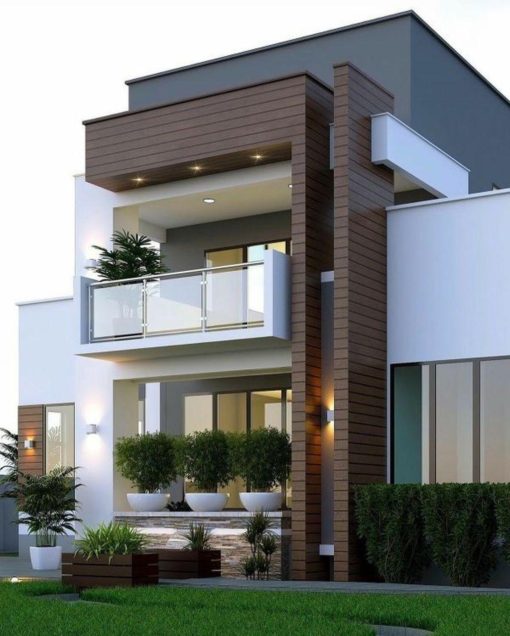 30 Stunning Minimalist Houses Design Ideas That Simple Unique And Modern Modern Minimalist House Small House Design Duplex House Design