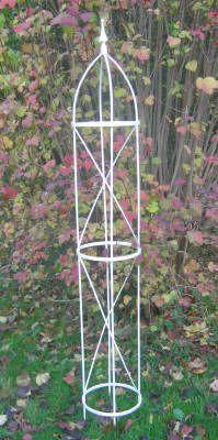 Strong Decorative Metal Plant Support Obelisk Medium Height