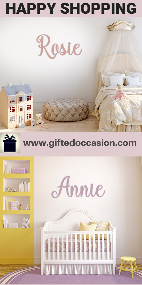 Personalized Name Sign, Annie Kaiy Design   Cut Out Name