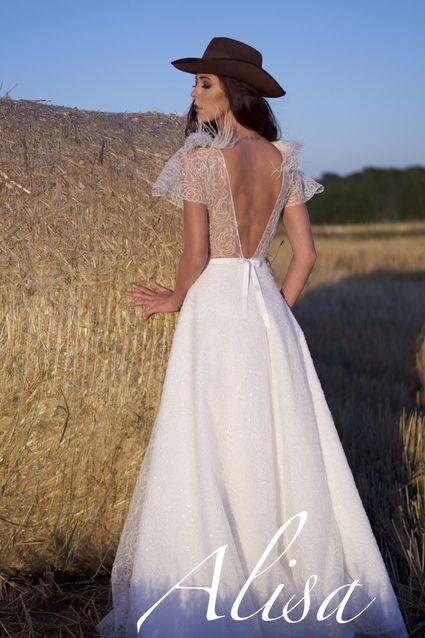 robe de mari e alisa neuve ivoire model karen avec