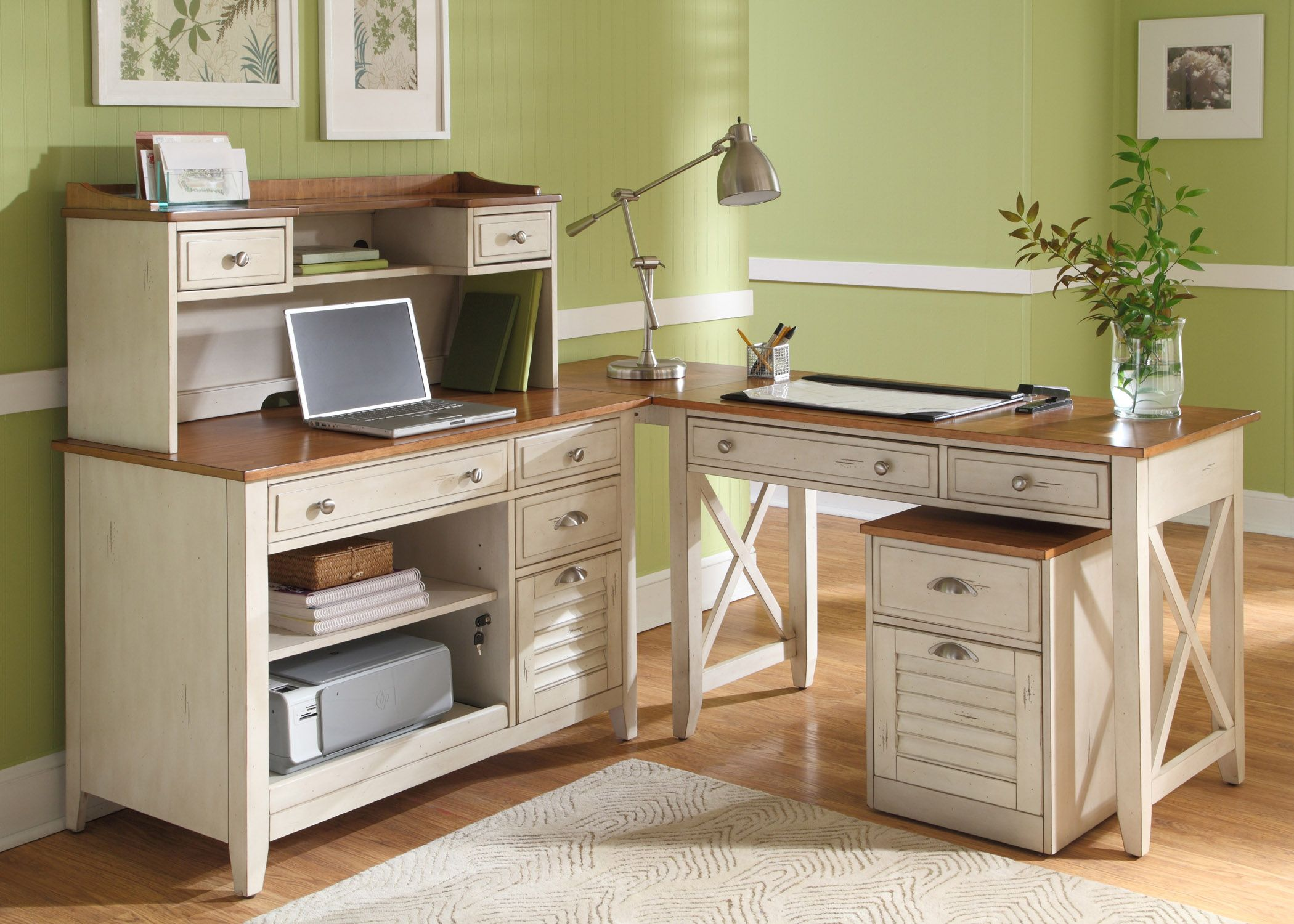 Beau Ocean Isle Home Office Set Liberty Furniture