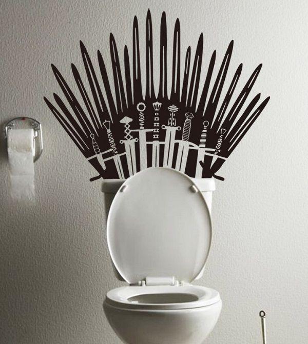Game Of Throne Iron Throne Toilet Decal Sticker Geek Stuff