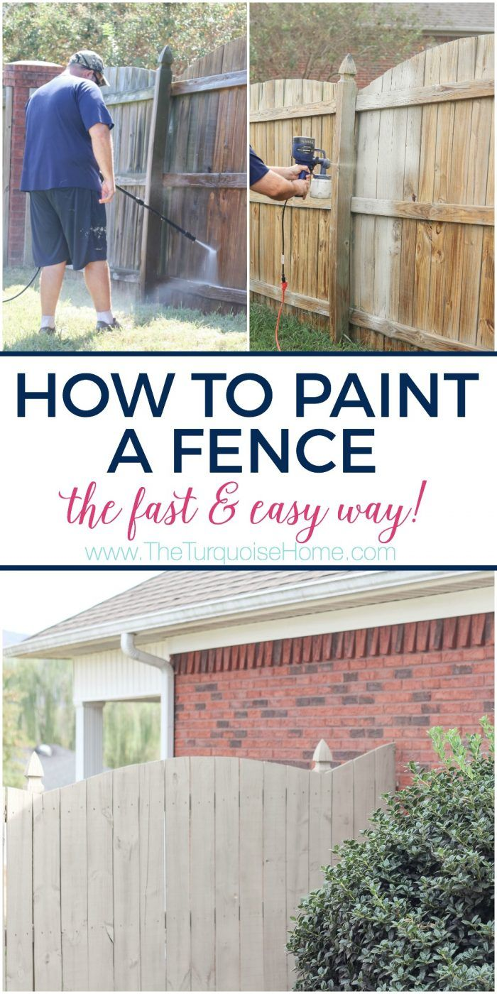 How To Paint A Wood Fence The Fast And Easy Way Painted