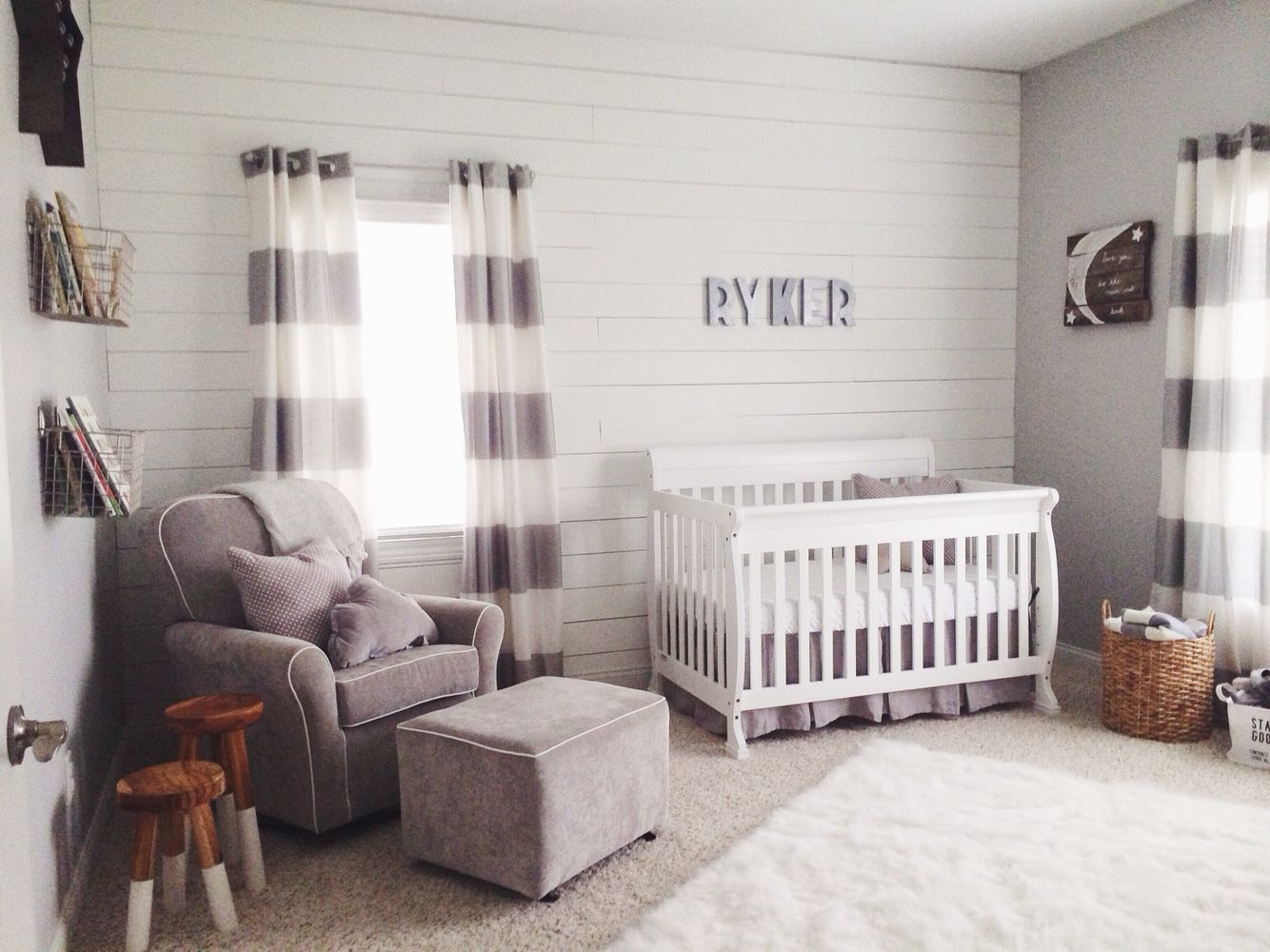 Our Little Baby Boy S Neutral Room: I Like The Idea Of A Little Stool By The Rocker For Things