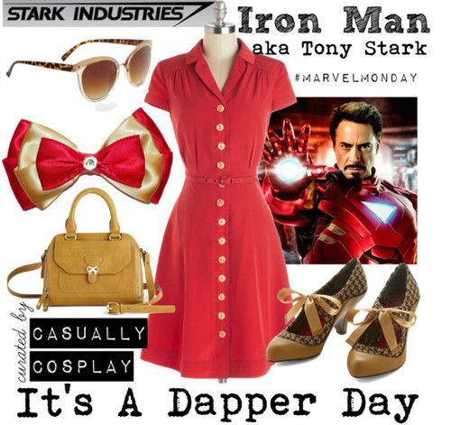 Dapper Day Iron Man by duckieday featuring brown glasses