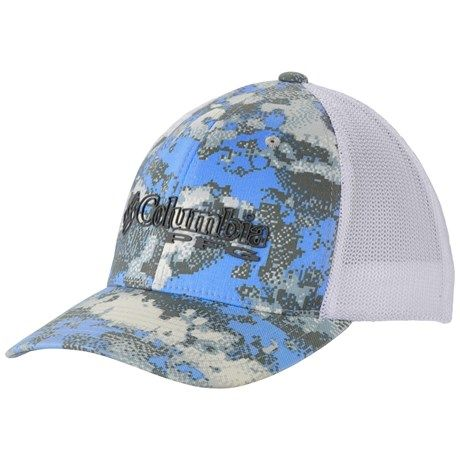 28dbbd71f33 Columbia Sportswear Camo Mesh Ball Cap (For Men and Women ...