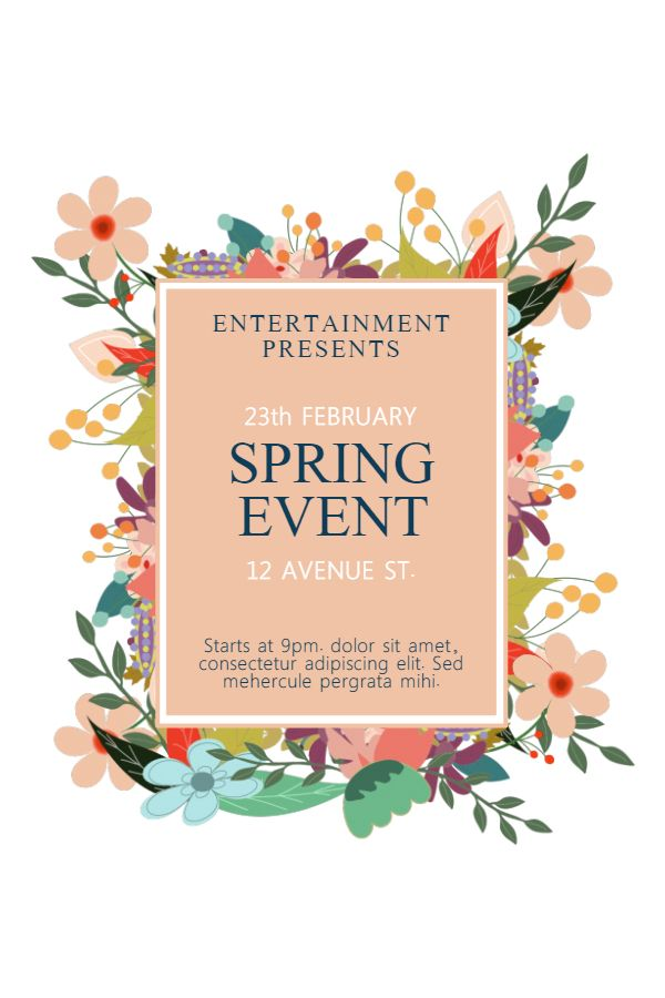 Spring Festival Poster Template Click to customize Spring - missing flyer template