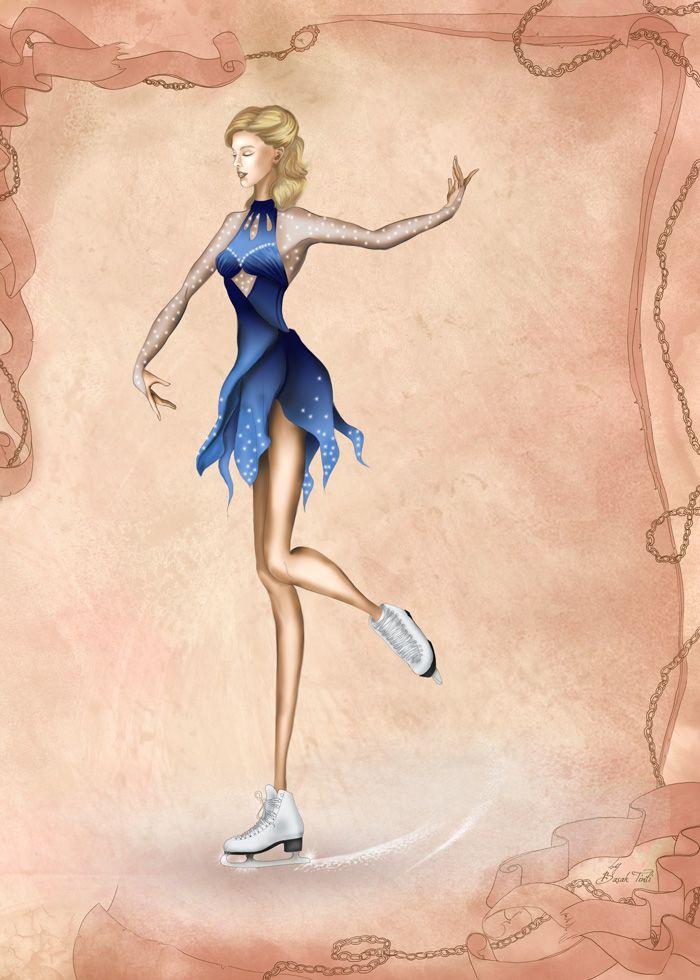 Figure Skater Fashion Illustration By Basaktinli Skater Style Fashion Illustration Illustration