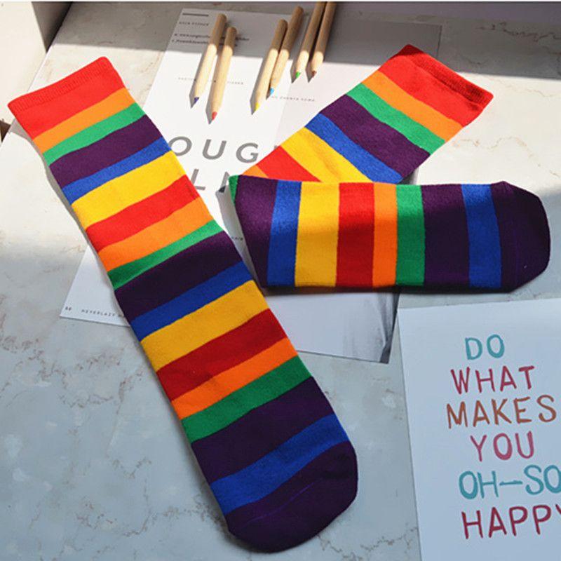 b2c124f6a51 2017 Cute Baby Socks Kid Socks Cotton Multi Colored Striped Socks ...