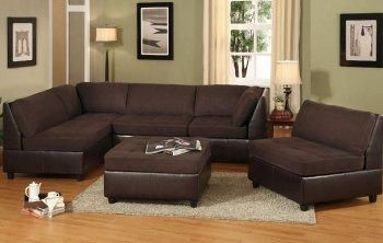 Brown Couch With A Better Mint Green Color On The Walls And Some