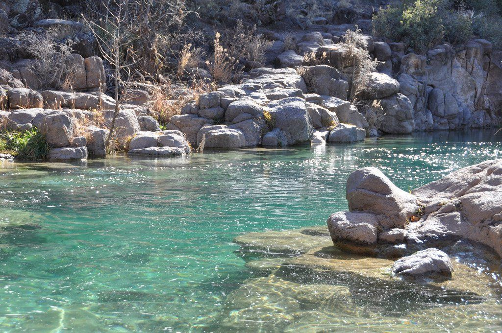 Hiking Fossil Springs Trail to Toilet Bowl — Fossil Creek