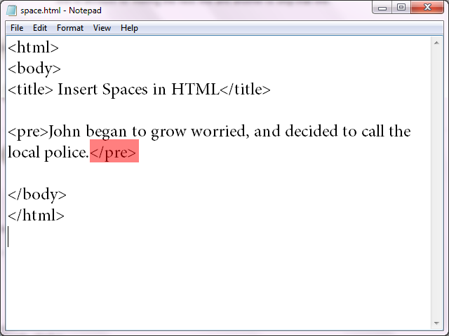 Insert Spaces in HTML | Tips \u0026 Tricks | Space, White space, Tab key