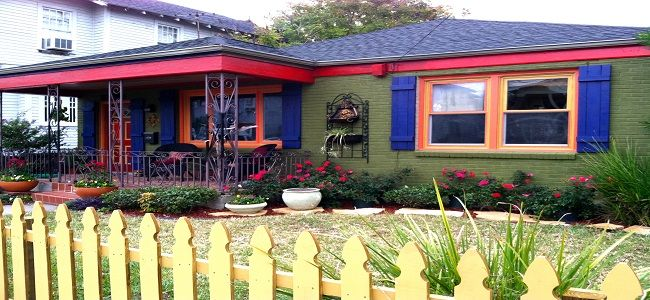 Funky Exterior Color Combinations And House Colors With Wood Paint