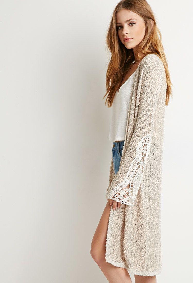 Textured Longline Cardigan   Forever 21 - 2000131873     Style ...