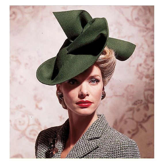 1930s 1940s Hat Pattern Vogue 7464 UNCUT Vintage Wide Brimmed ...
