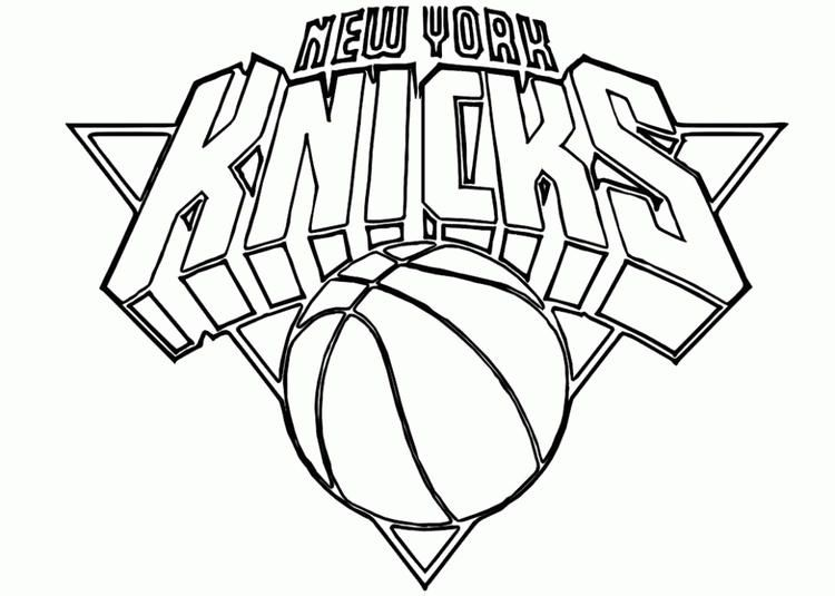 Nba Coloring Pages New York Knicks With Images Sports Coloring