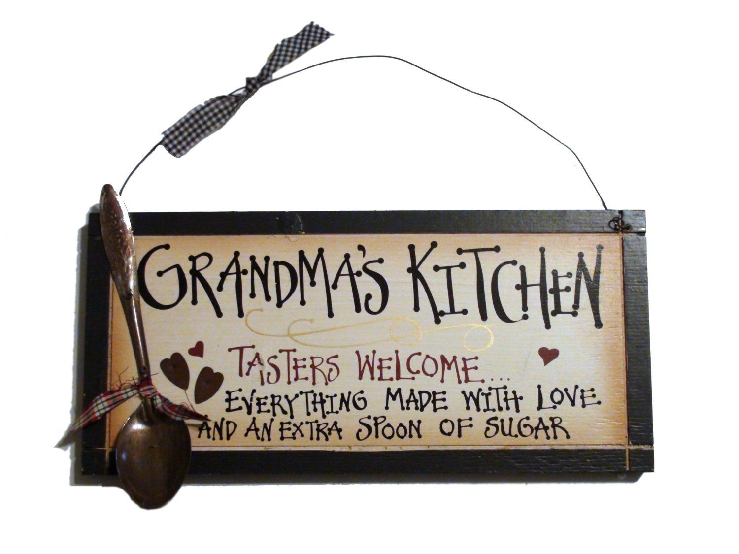 Küchenschilder Grandma's Grandma Nana Kitchen – Tasters Welcome With ...