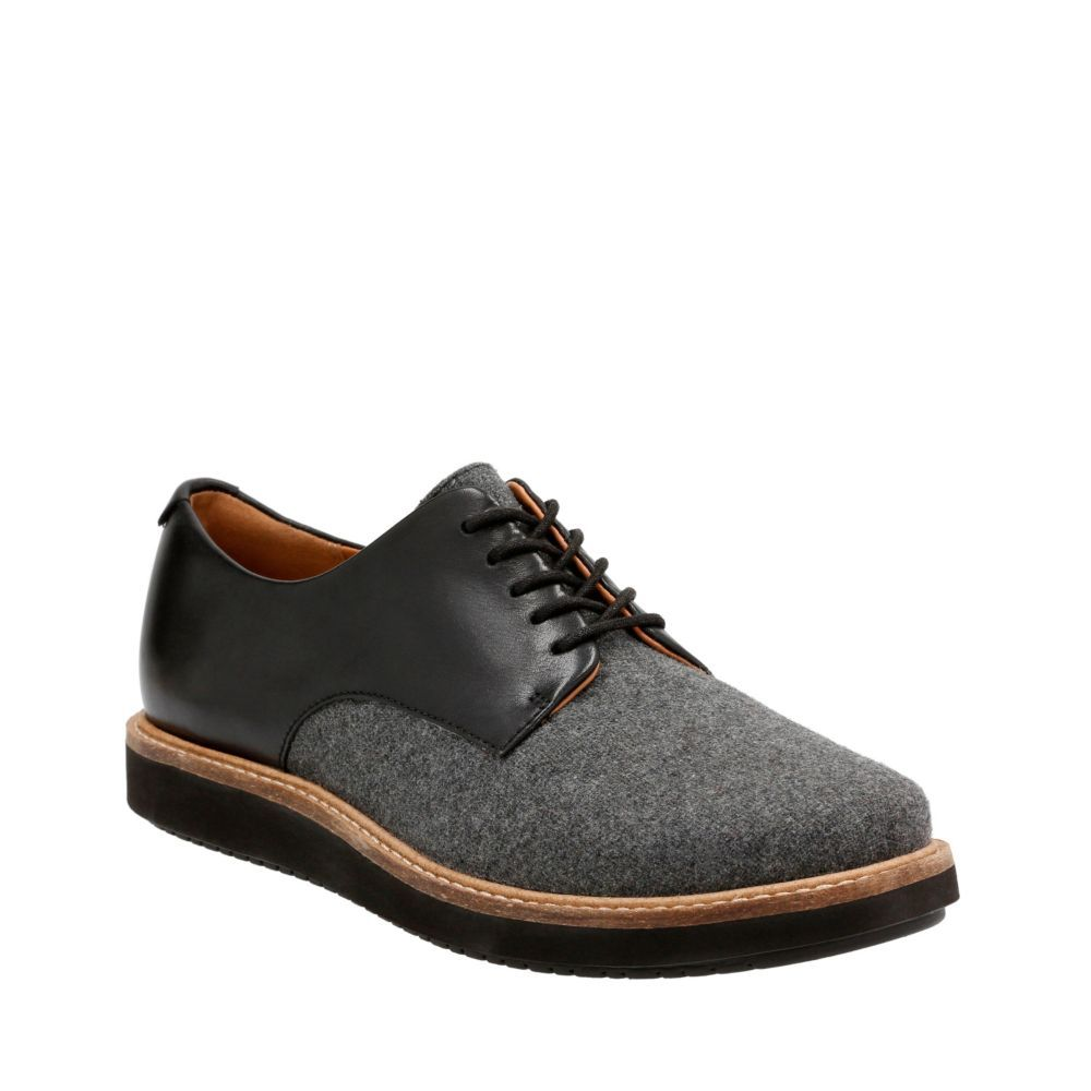 Glick Darby Grey TextileBlk Leather Combi womenscasualshoes