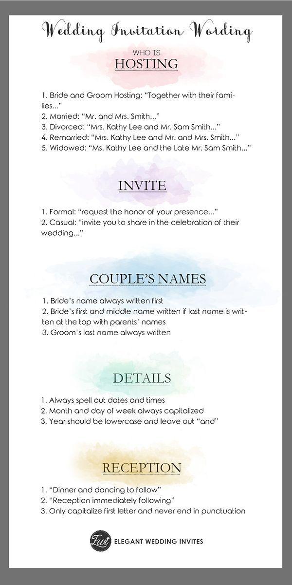 Simple Wedding Invitation Wording Guide | Simple wedding invitations ...
