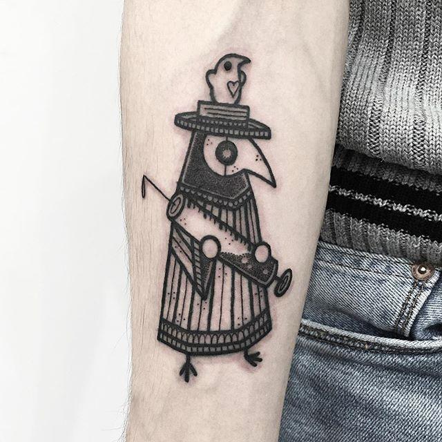 Hugo Tattooer Is Showing The Cute Side Of Blackwork   Tattoodo.com