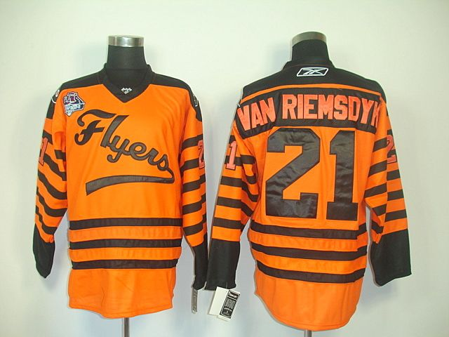be41bf3f Philadelphia Flyers 21 James VAN RIEMSDYK 2012 Winter Classic Orange Jersey