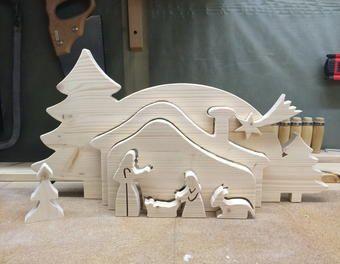 Relief Krippe I Holz Dekupiersage Advent Dekupiersage Laubsage Adventsdekoration Laubsage Vorlagen Weihnachten Holz Basteln Weihnachten Weihnachtskrippe Holz