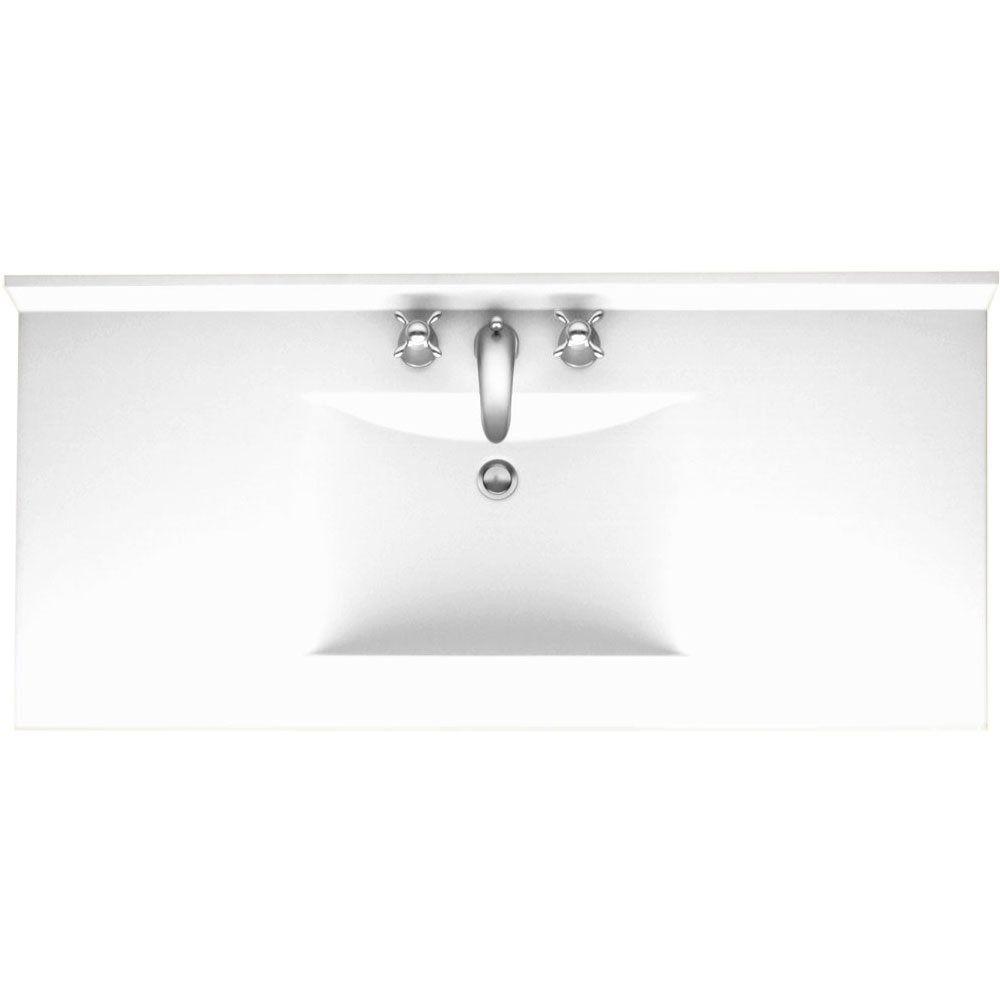 """Ellipse 61"""" Single Bathroom Vanity Top"""