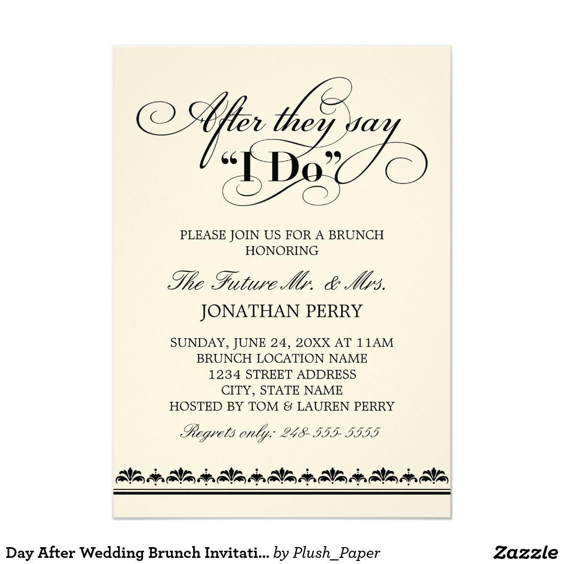 day after wedding brunch invitation wedding vows vintage wedding