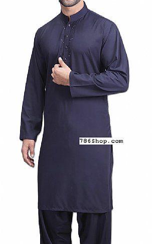 742dac8125 Navy Blue Men Shalwar Kameez | Buy Pakistani Designer Fashion Dress ...