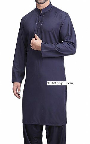 0aa0ac6bcc Navy Blue Men Shalwar Kameez | Buy Pakistani Designer Fashion Dress ...