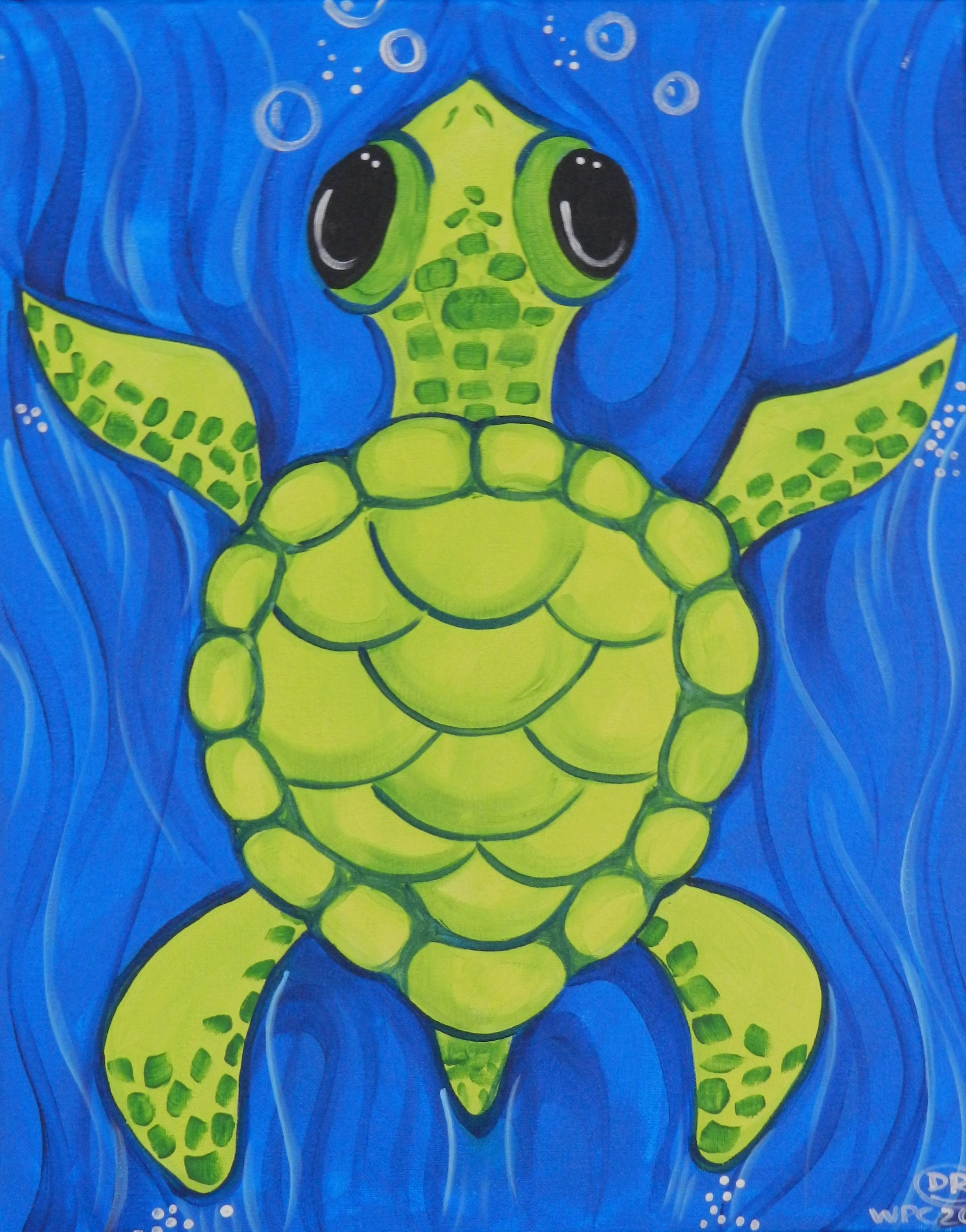 Sea Turtle Jpg 2473 3155 With Images Kids Canvas Painting