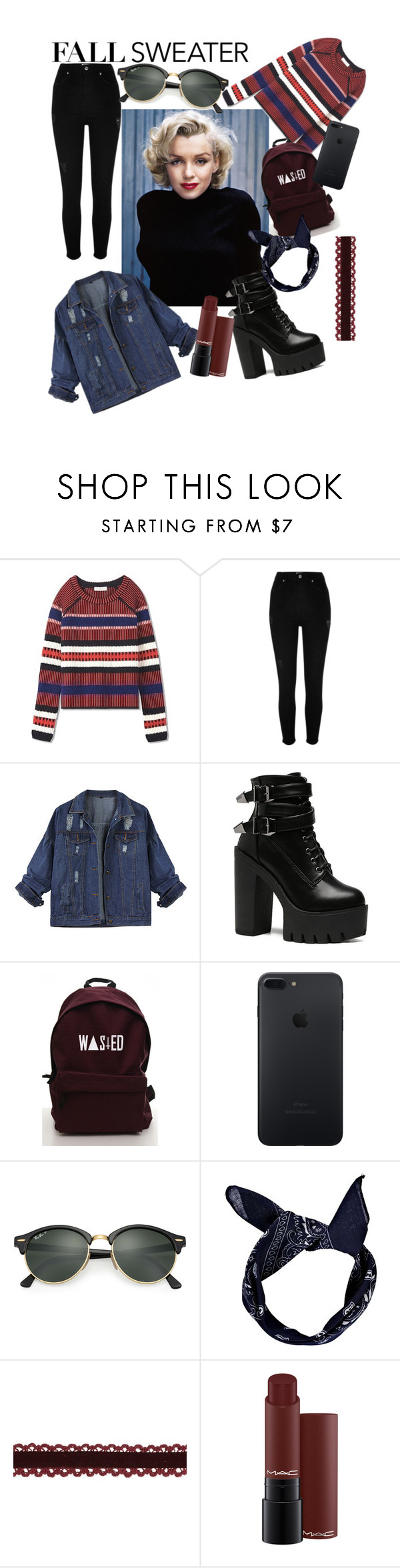 """""""Untitled #30"""" by verakooy ❤ liked on Polyvore featuring Tory Burch, River Island, Ray-Ban and Boohoo"""
