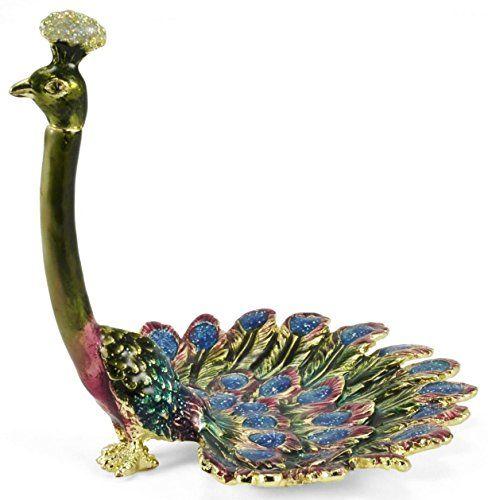 Welforth Enameled Pewter Peacock