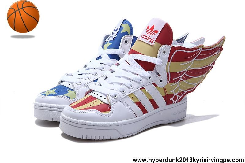 Sale Cheap Adidas X Jeremy Scott Wings 2.0 USA Flag Shoes Glow In ...