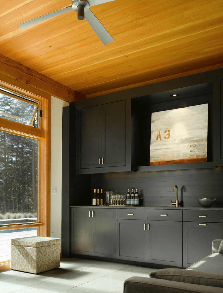 Painting kitchen cabinets flat black - Matte All Black Kitchen Cabinets With Matte Black Backsplash