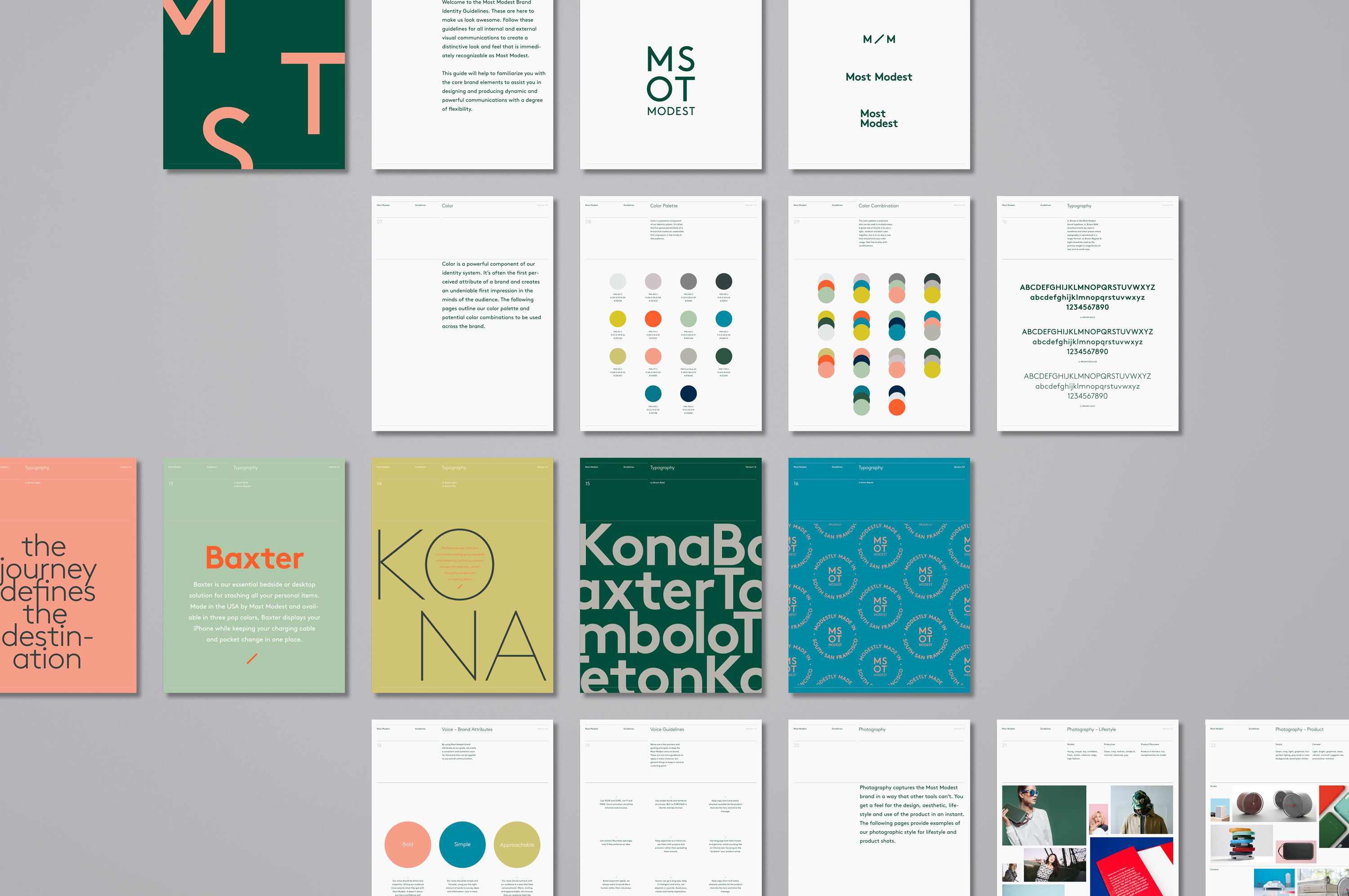 San Francisco Design Studio Most Modest Visual Identity Branding Design Packaging Brand Guidelines