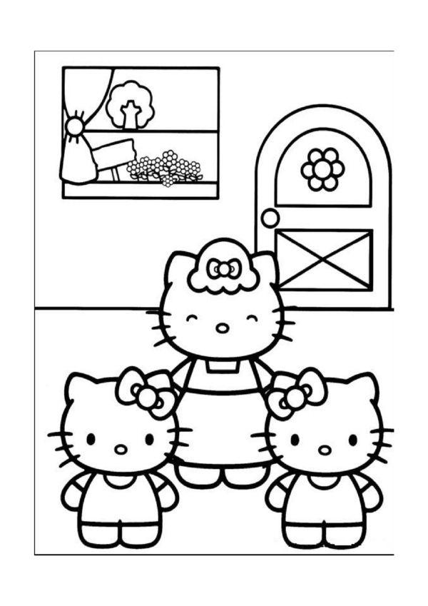 Ausmalbilder Hello Kitty 11 | malvorlagen | Pinterest | Ausmalbilder ...