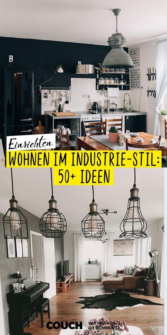 Industrial Bilder Ideen Industriedesign Wohnzimmer Einrichten Und Wohnen Wohnzimmer Und Industrie Stil Inneneinrichtung