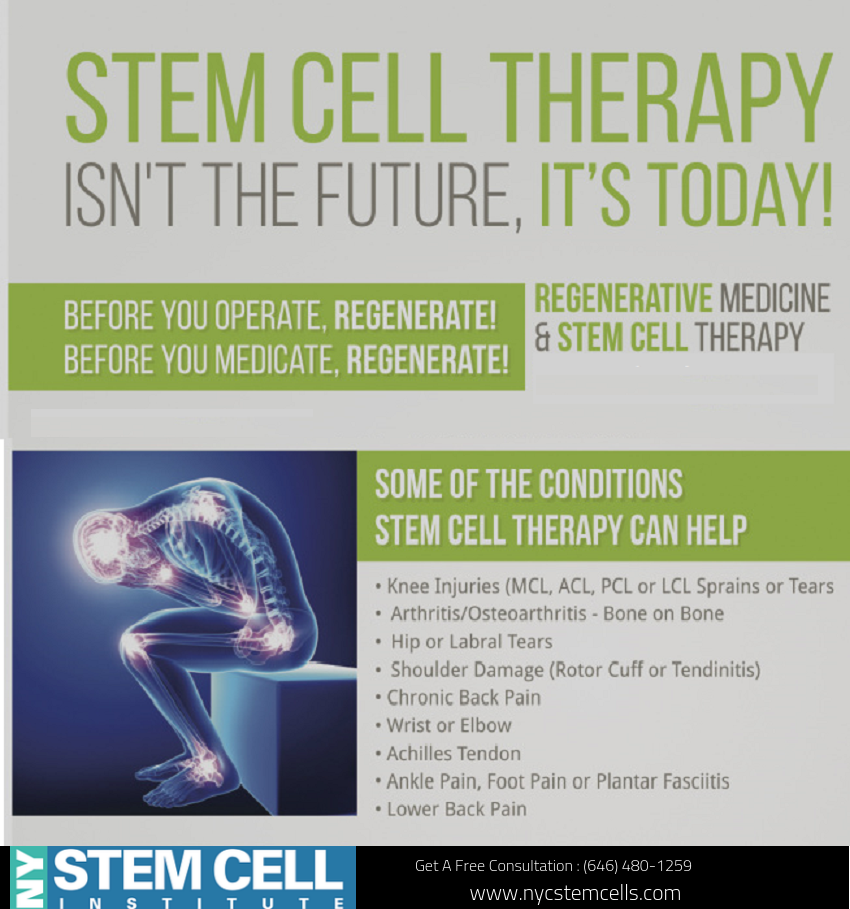 Stem Cell Therapy Isn T The Future It S Today Stem Cell Therapy Stem Cells Cell Therapy