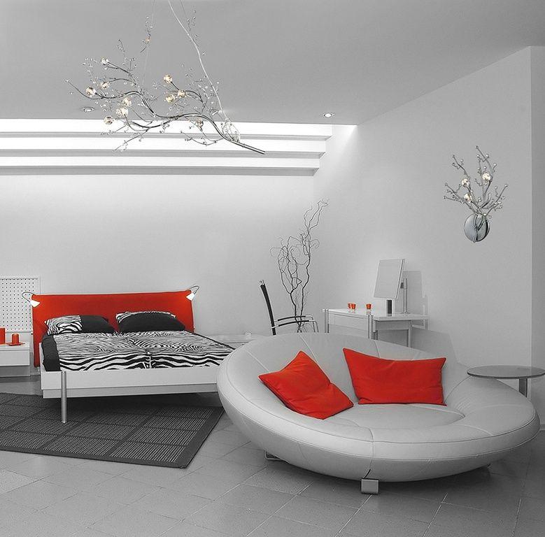 Eclectic Master Bedroom with High ceiling, Wall sconce, limestone tile floors, Elk Lighting 30032/10 Ten Light Chandelier